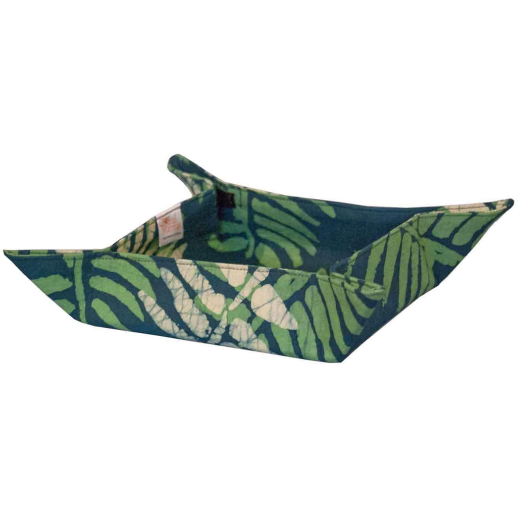 Global Mamas (T) Tableware Velcro Basket - Green Jungle - Global Mamas (T)