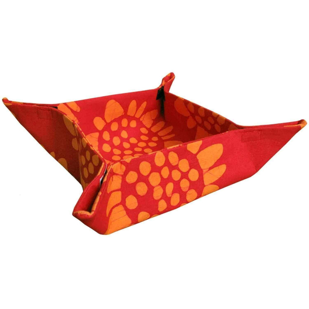Global Mamas (T) Tableware Velcro Basket - Red Sunflower - Global Mamas (T)