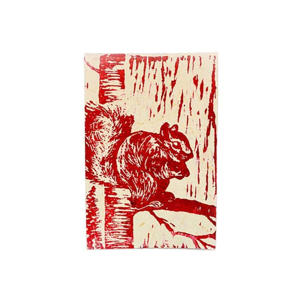 Imani Workshop (S) Journals Block Print Greeting Card - Squirrel - Imani Workshop (S)