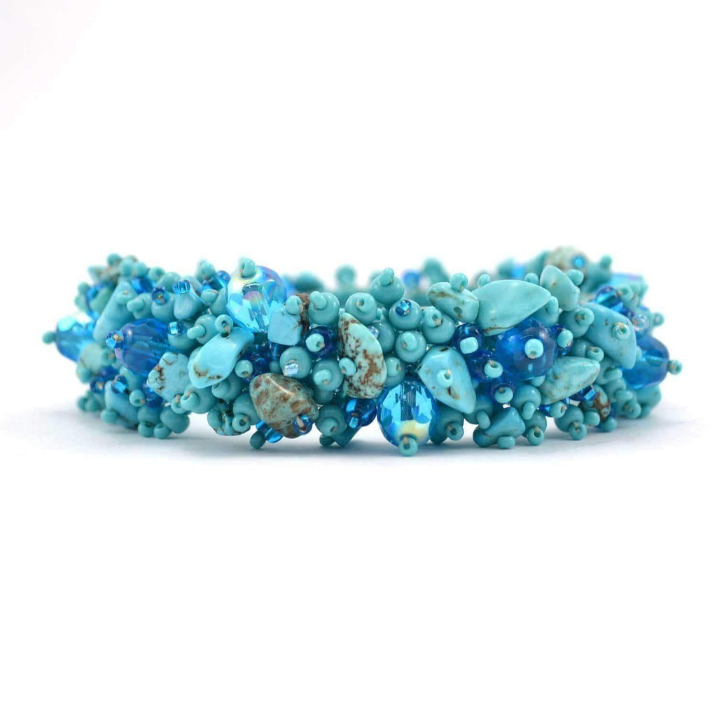 Lucias Imports (J) Lucias Jewelry Magnetic Stone Caterpillar Bracelet Turquoise - Lucias Imports (J)