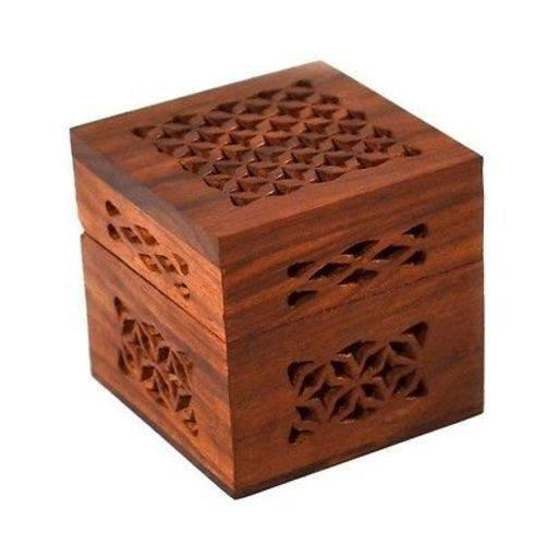 Matr Boomie (B) Decorative Boxes Handmade Small Lattice Cutwork Wood Box - Matr Boomie (B)