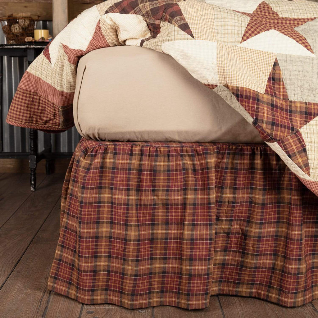 Mayflower Market Bed Skirt Abilene Star King Bed Skirt 78x80x16