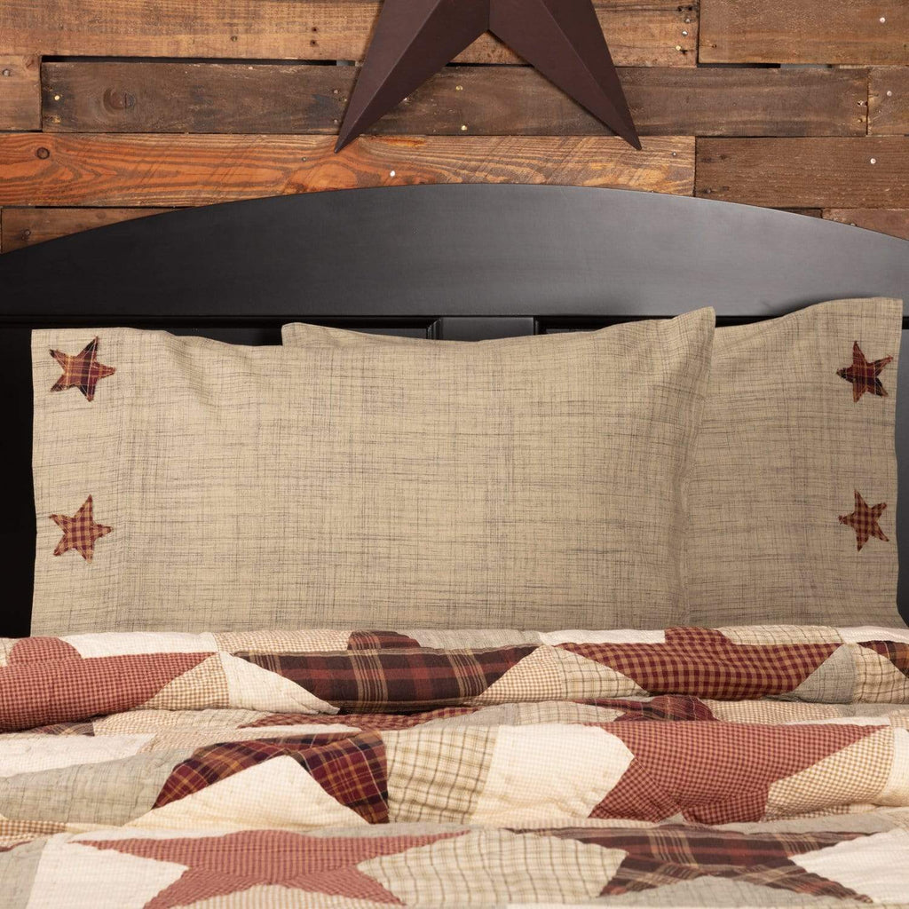 Mayflower Market Pillow Case Abilene Star Standard Pillow Case Set of 2 21x30