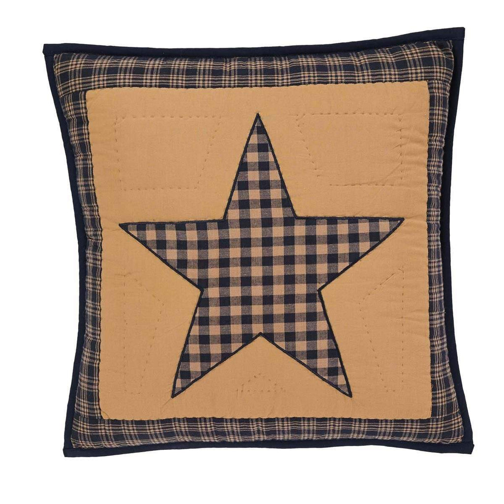 Mayflower Market Pillow Cover Teton Star Quilted Pillow 16x16