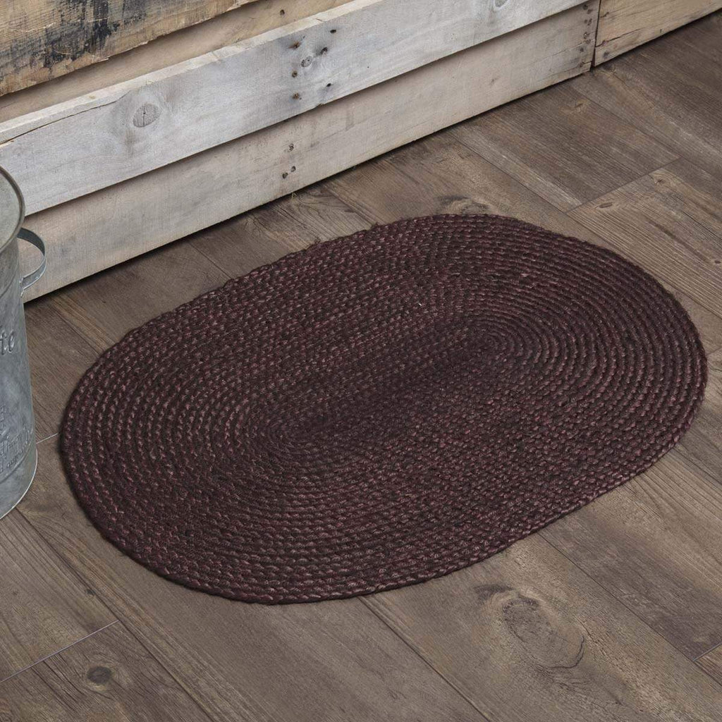 Mayflower Market Rug Burgundy Jute Rug Oval 20x30