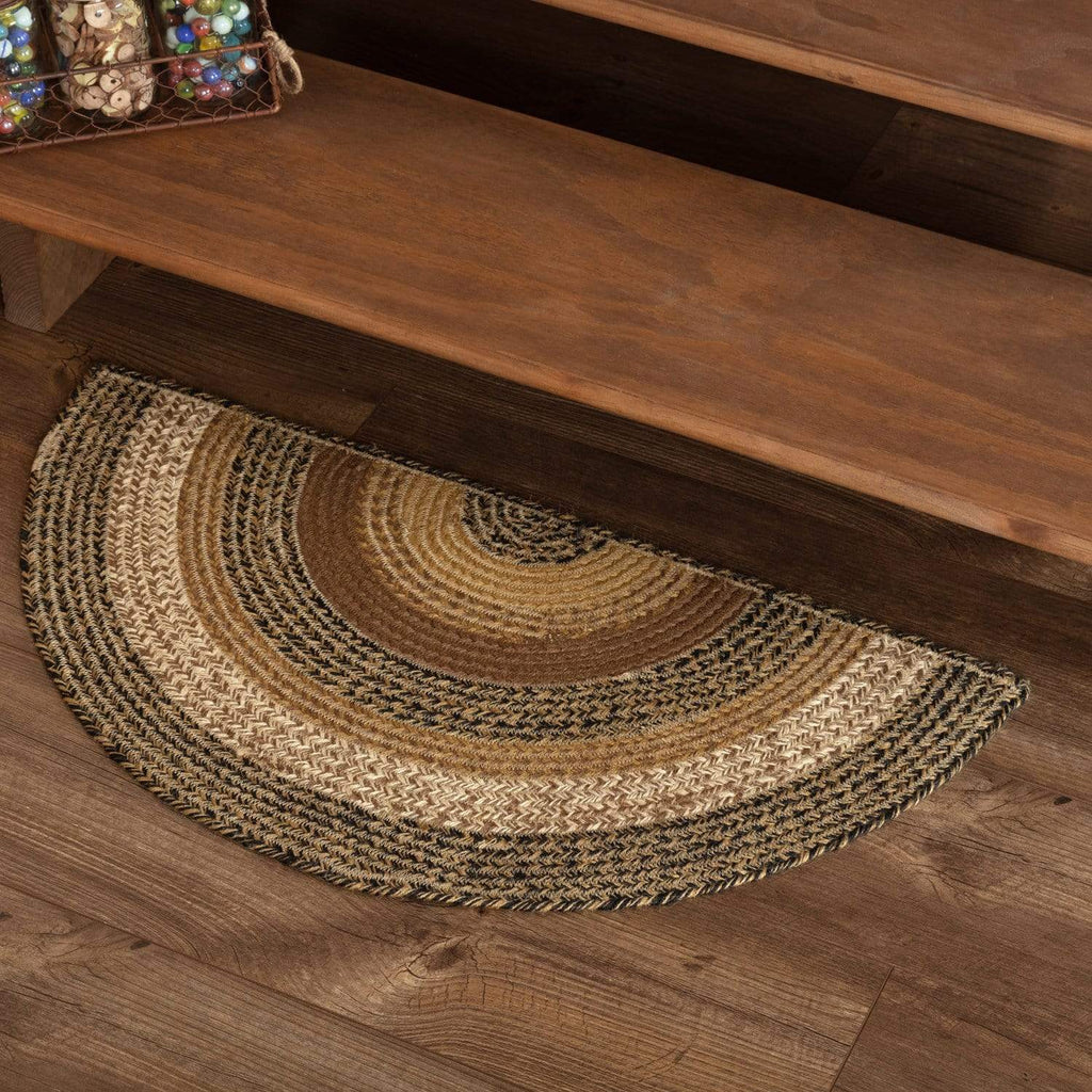 Mayflower Market Rug Kettle Grove Jute Rug Half Circle 16.5x33