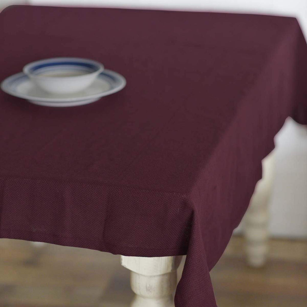 Mayflower Market Table Cloth Burlap Merlot Table Cloth 60x80
