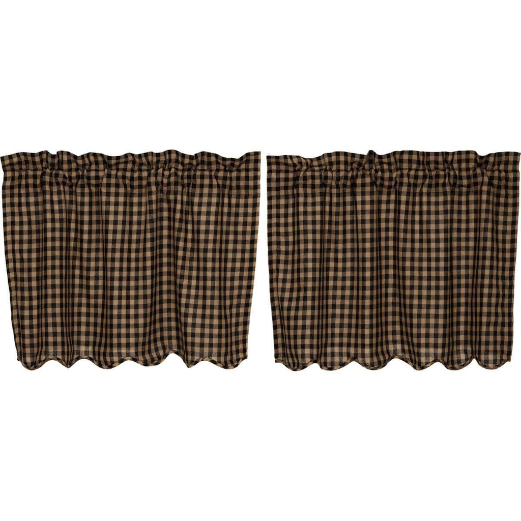 Mayflower Market Tier Black Check Scalloped Tier Set of 2 L24xW36