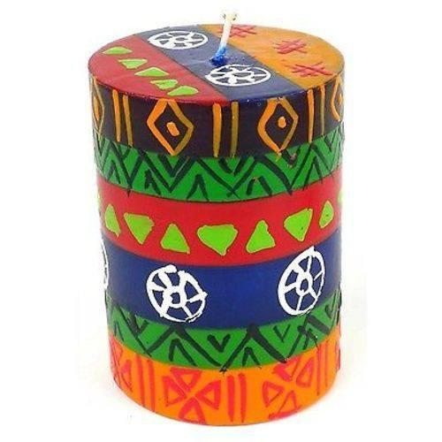 Nobunto Candles Single Boxed Hand-Painted Pillar Candle - Shahida Design - Nobunto
