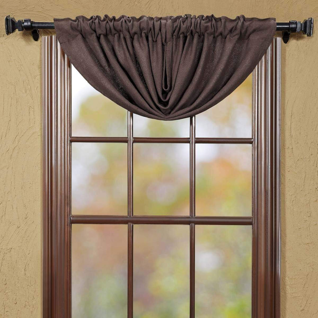 Oak & Asher Balloon Valance Burlap Chocolate Balloon Valance 15x60