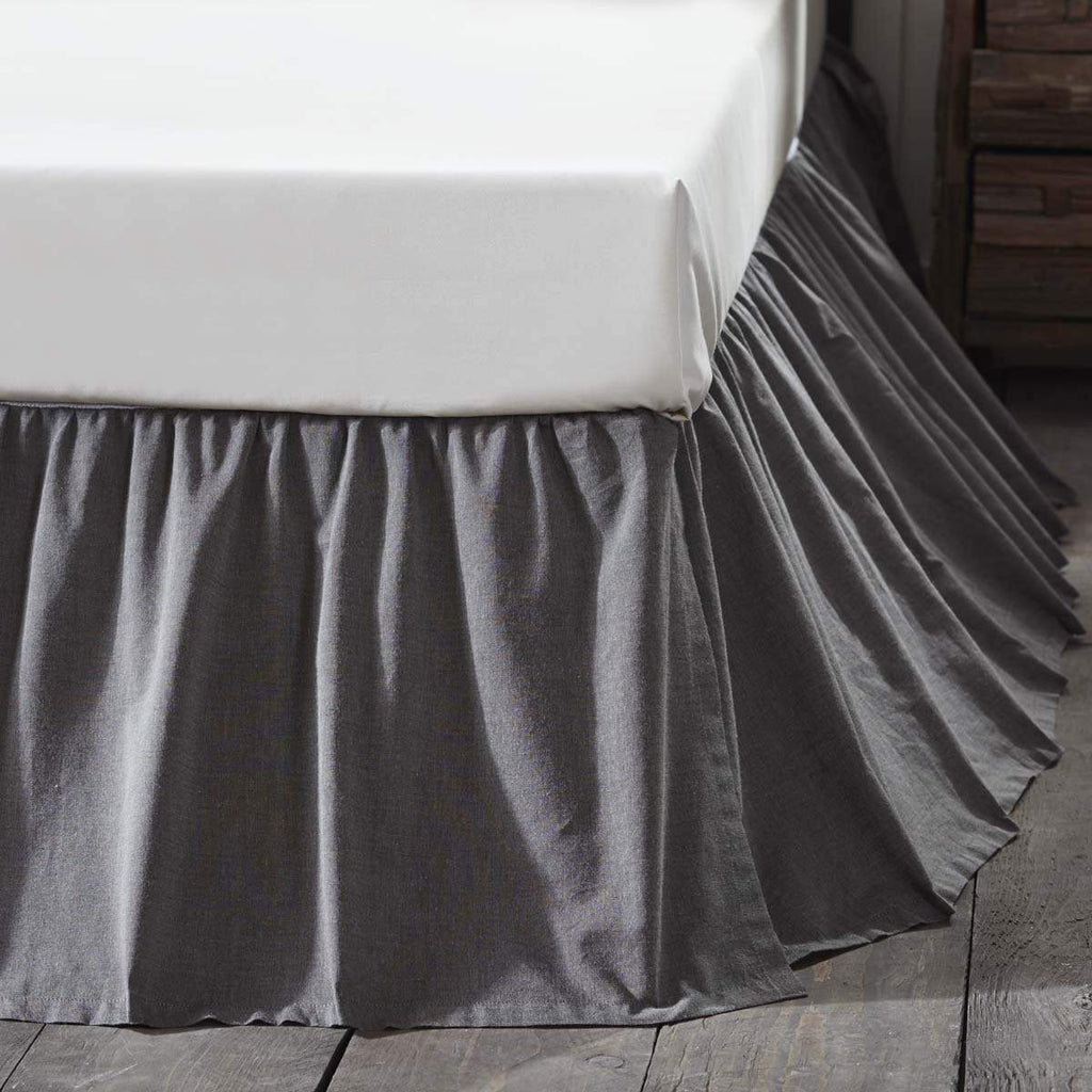 Oak & Asher Bed Skirt Black Chambray Twin Bed Skirt 39x76x16