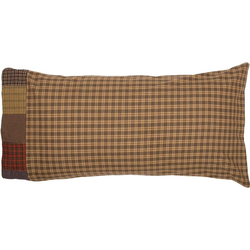 Oak & Asher Pillow Case Cedar Ridge King Pillow Case with Block Border Set of 2 21x40