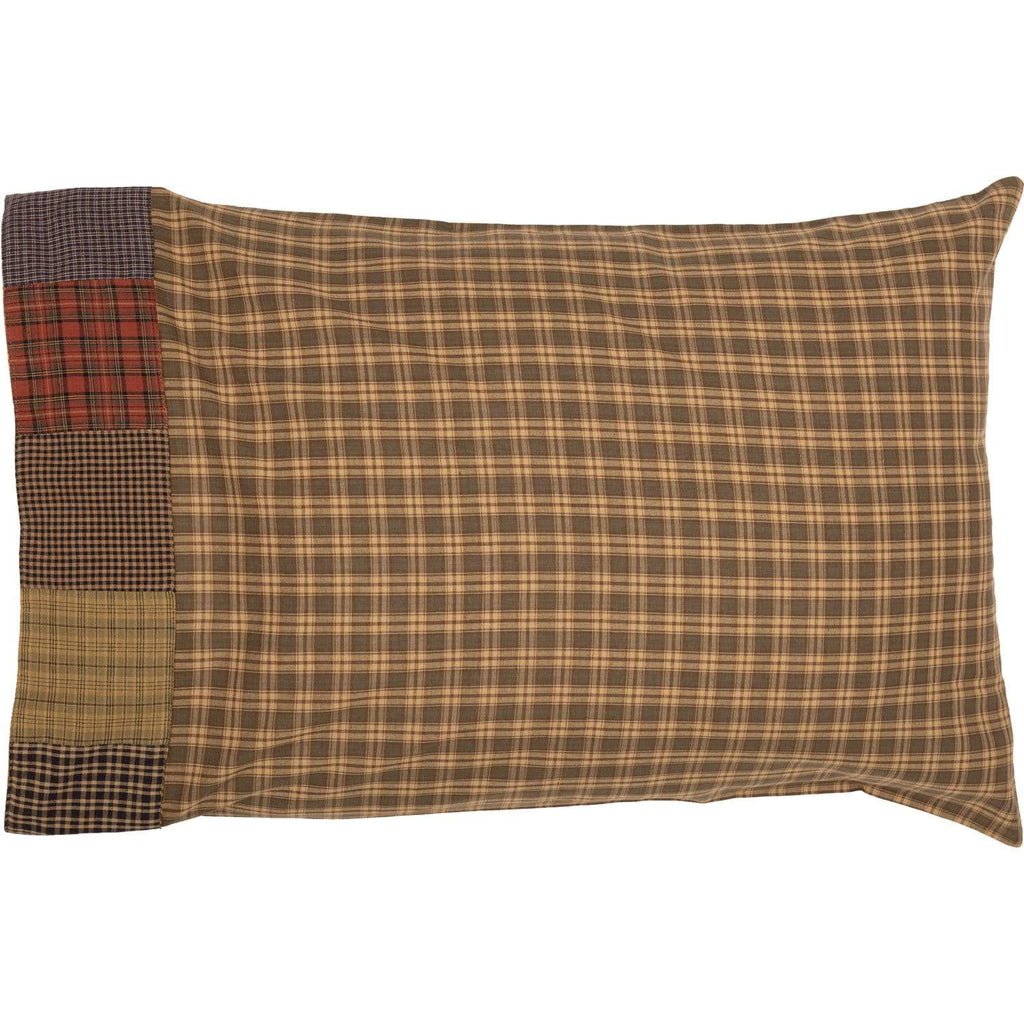 Oak & Asher Pillow Case Cedar Ridge Standard Pillow Case with Block Border Set of 2 21x30