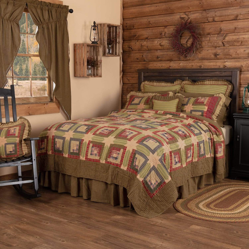 Oak & Asher Quilt Tea Cabin California King Quilt 130Wx115L
