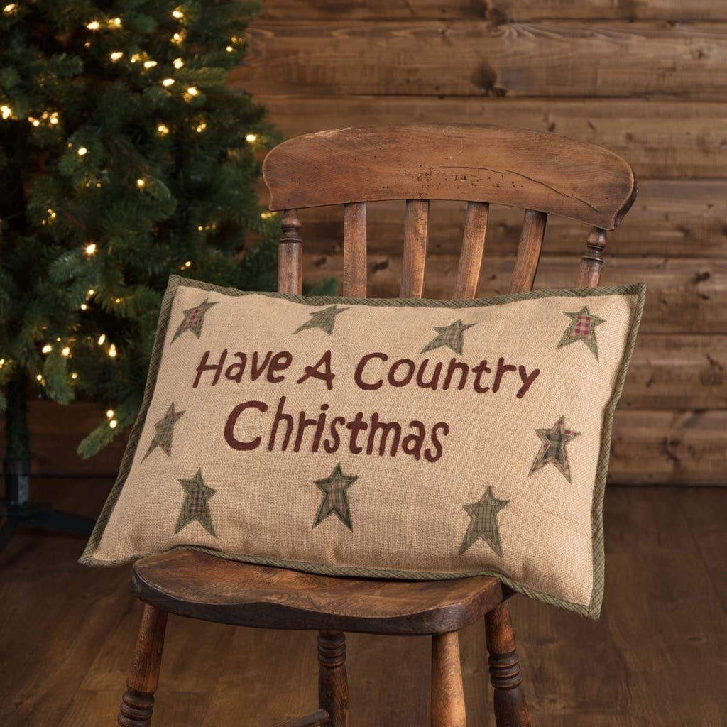 Seasons Crest Pillow Cover Country Christmas Pillow 14x22