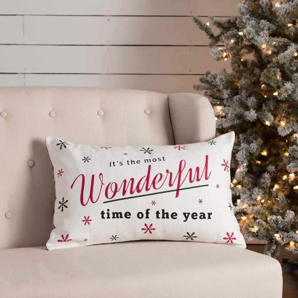 Seasons Crest Pillow Cover Emmie Wonderful Time Pillow 14x22
