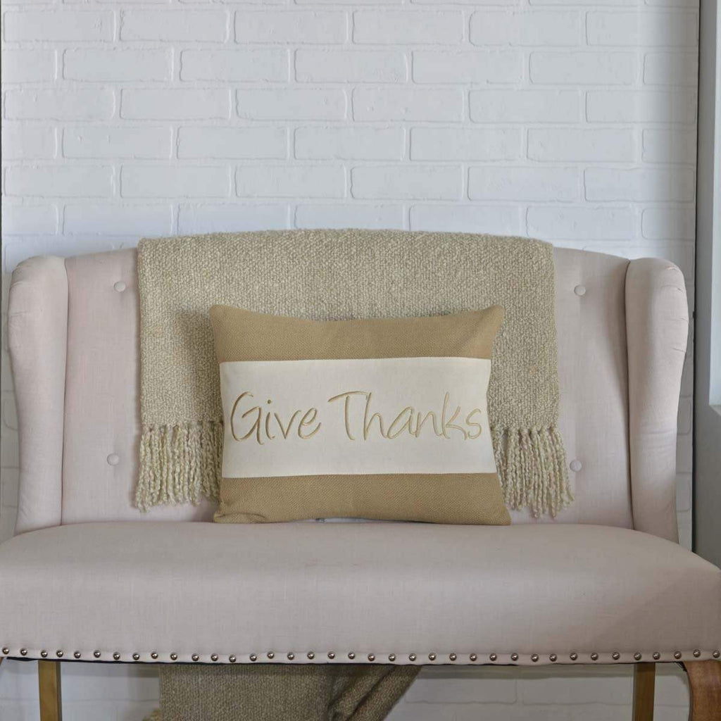 Seasons Crest Pillow Cover Give Thanks Pillow 14x18