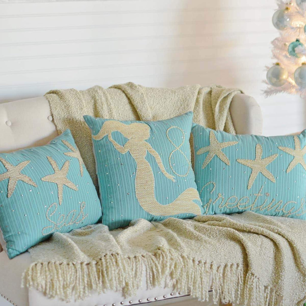 Seasons Crest Pillow Cover Nerine Seas & Greetings Set of 3 Pillows-Asstd Sizes