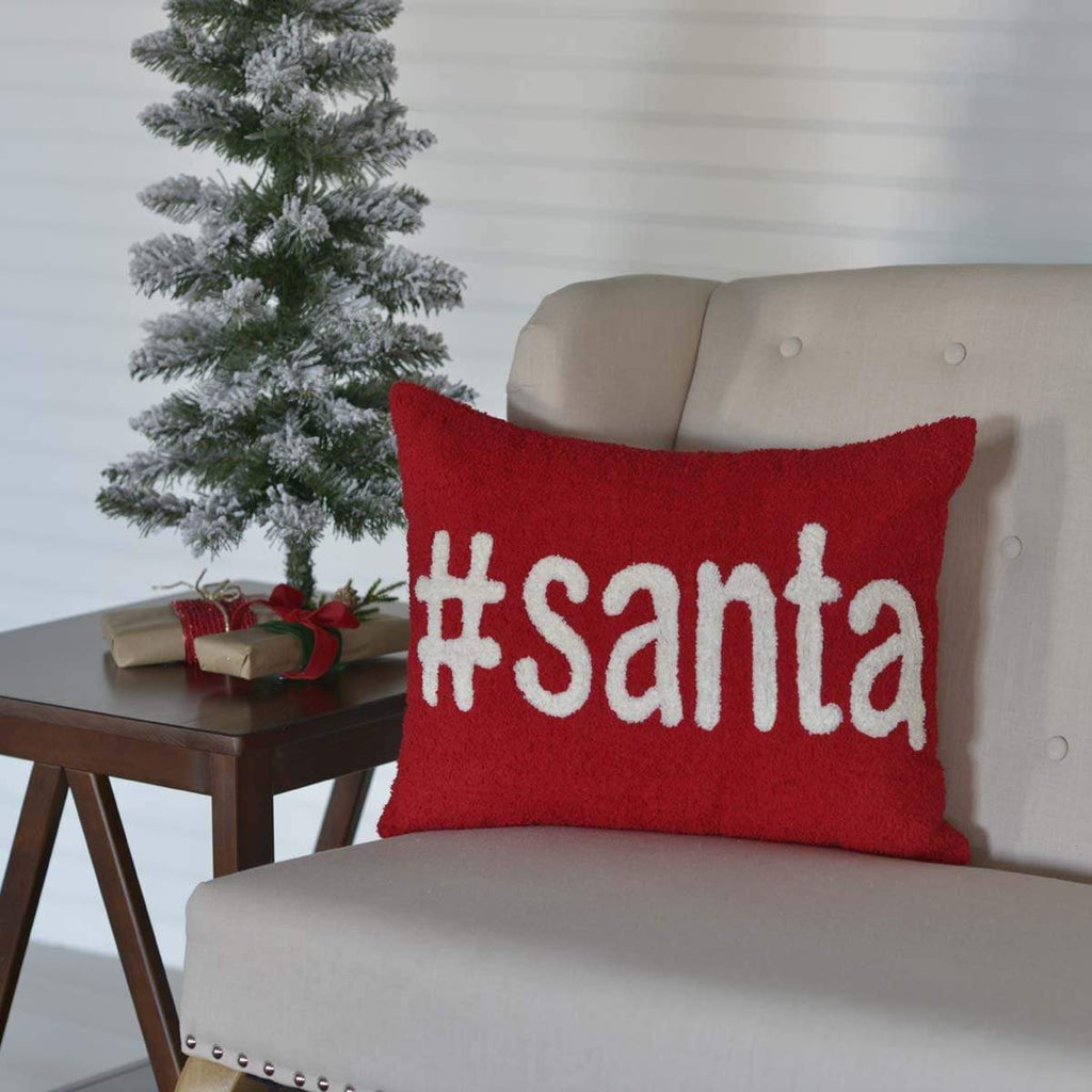 The Village Country Store #Santa Pillow 14x18 product_description Pillow Cover.