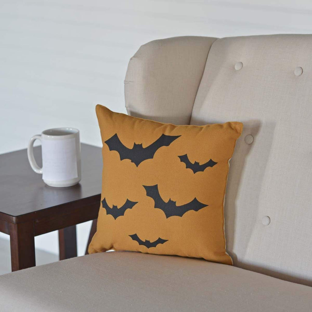Seasons Crest Pillow Halloween Bats Pillow 12x12