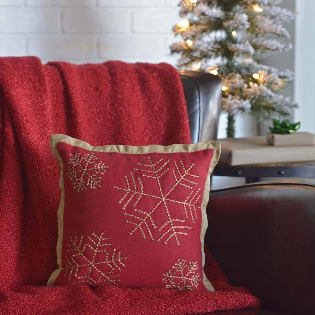 Seasons Crest Pillow Revelry Snowflake Pillow 12x12