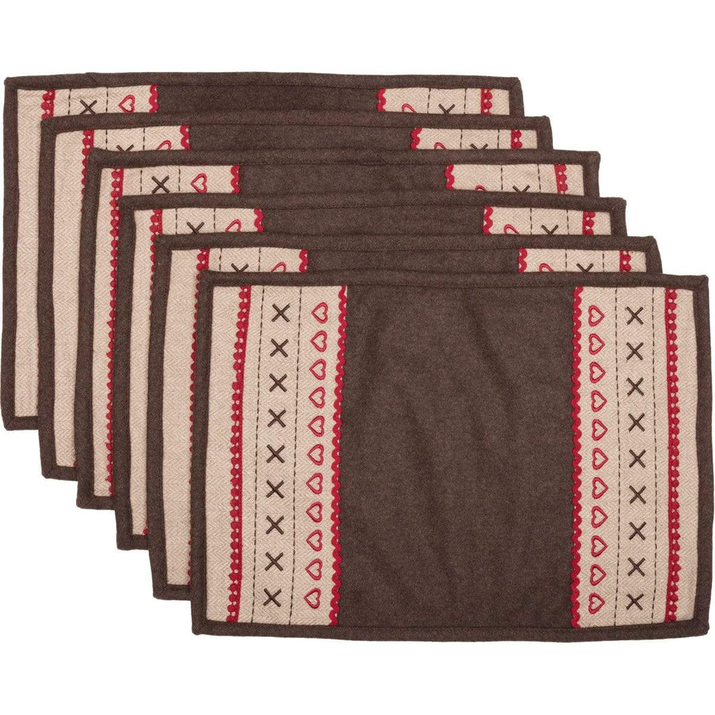 Seasons Crest Placemat Merry Little Christmas Placemat Set of 6 12x18