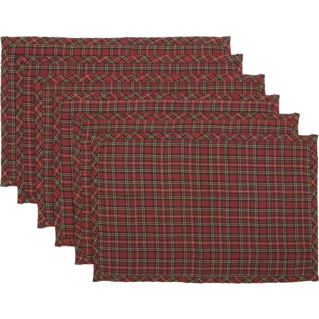 Seasons Crest Placemat Tartan Holiday Placemat Set of 6 12x18