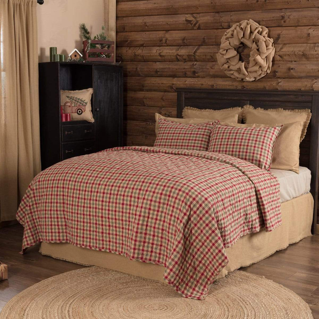 Seasons Crest Quilt Jonathan Plaid King Quilt 105Wx95L
