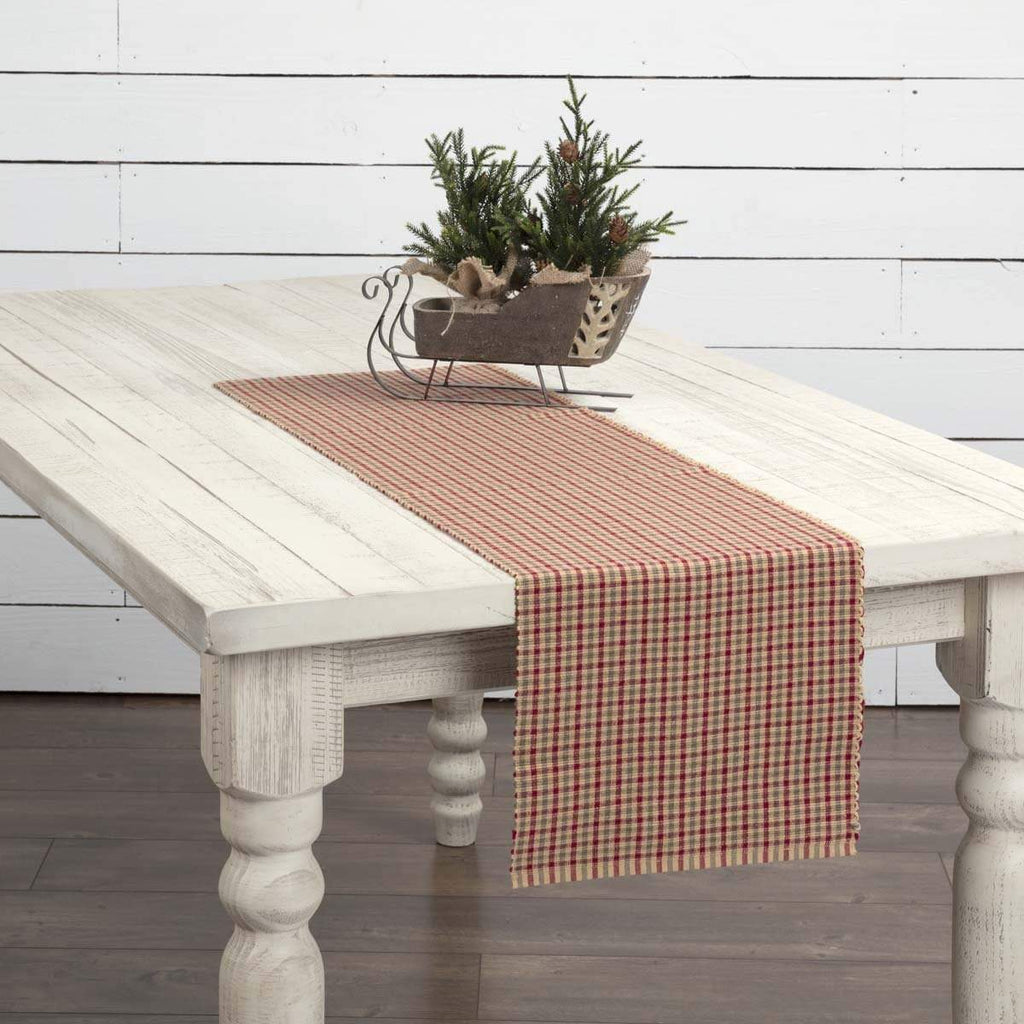 Seasons Crest Runner Jonathan Plaid Ribbed Runner 13x48