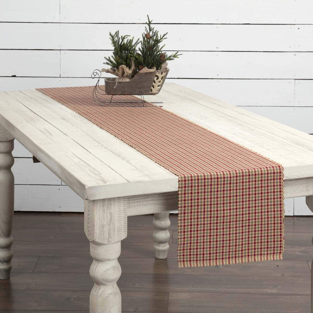 Seasons Crest Runner Jonathan Plaid Ribbed Runner 13x90
