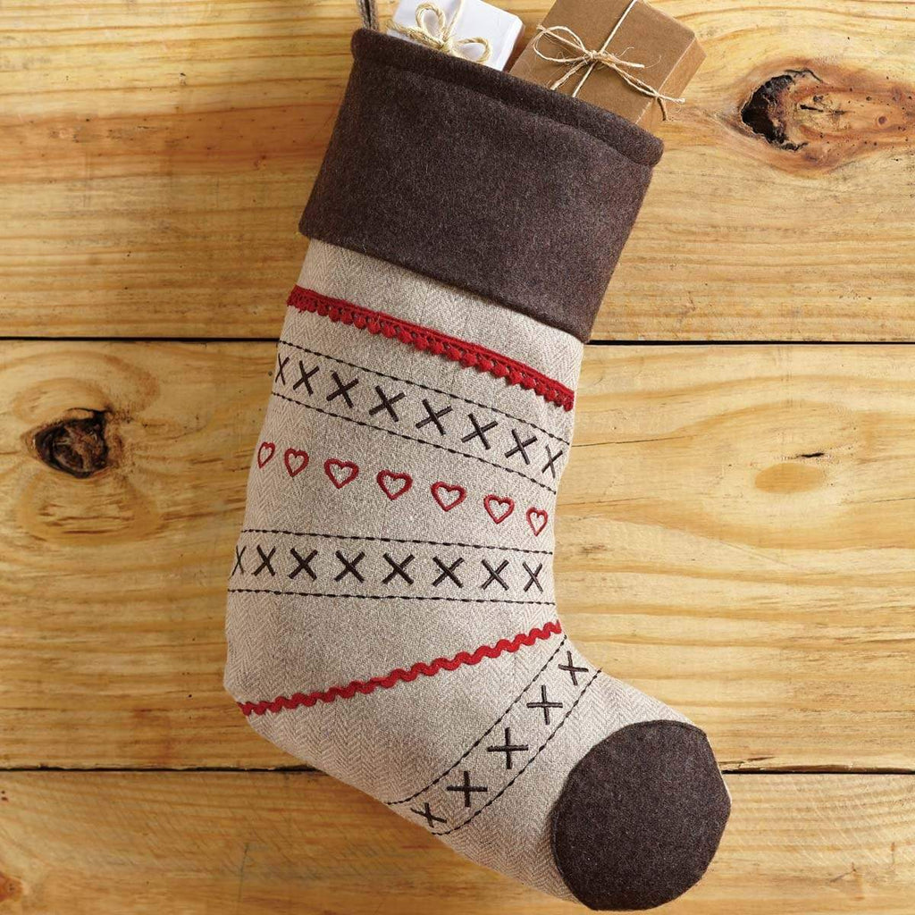 Seasons Crest Stocking Merry Little Christmas Stocking 11x15