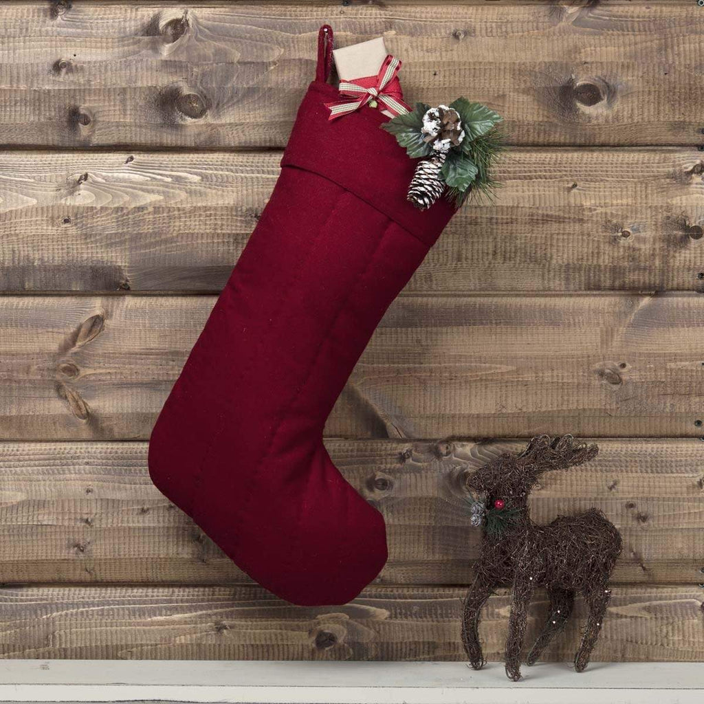 Seasons Crest Stocking Red Felt Stocking 12x20