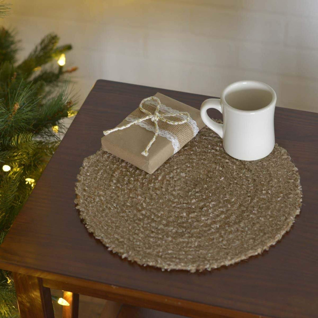 "Seasons Crest Tablemat Dyani Champagne 13"" Tablemat Set of 6"