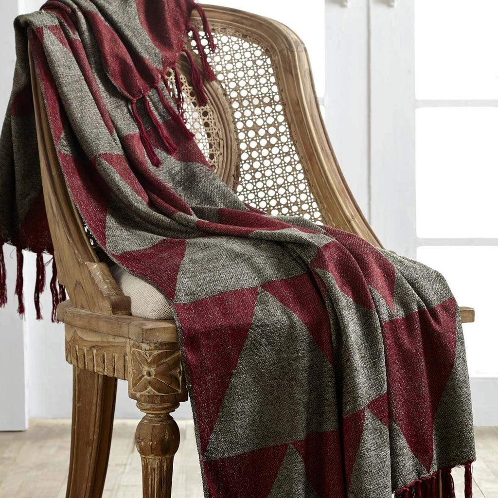 Seasons Crest Throw Nicholas Chenille Jacquard Woven Throw 60x50
