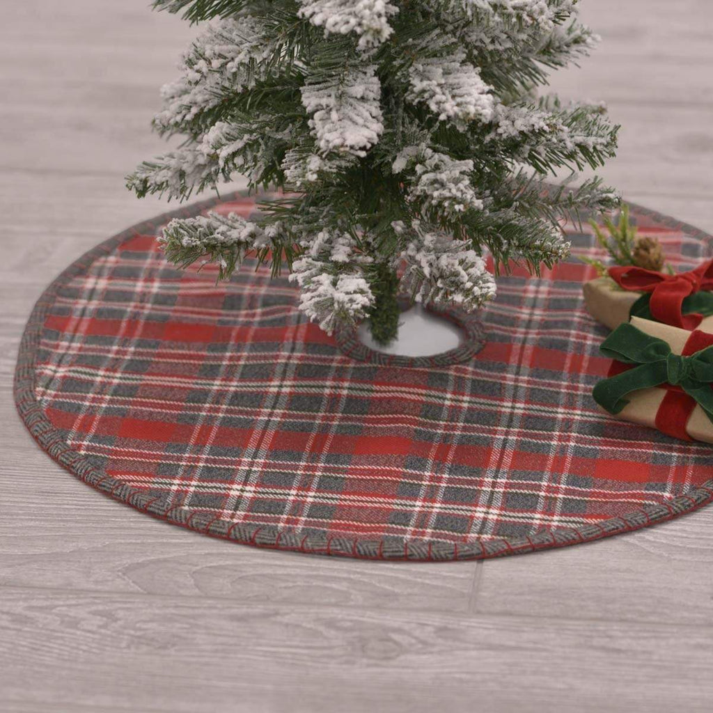 Seasons Crest Tree Skirt Anderson Plaid Mini Tree Skirt 21