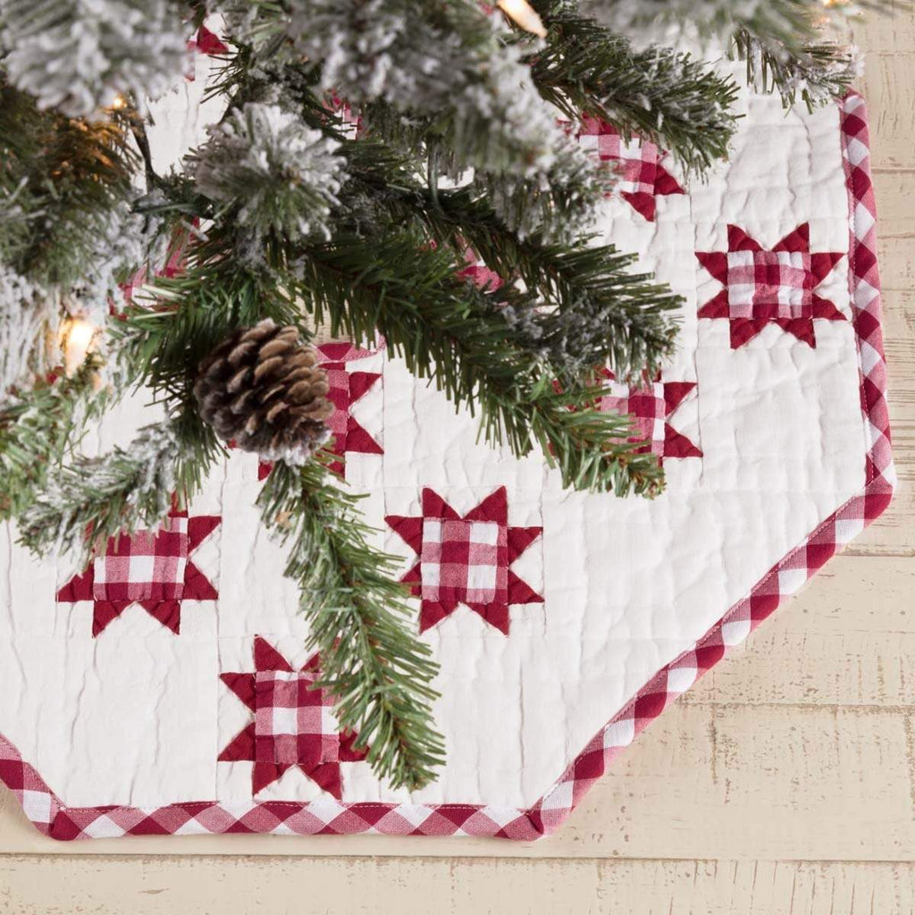 Seasons Crest Tree Skirt Emmie Red Patchwork Mini Tree Skirt 21