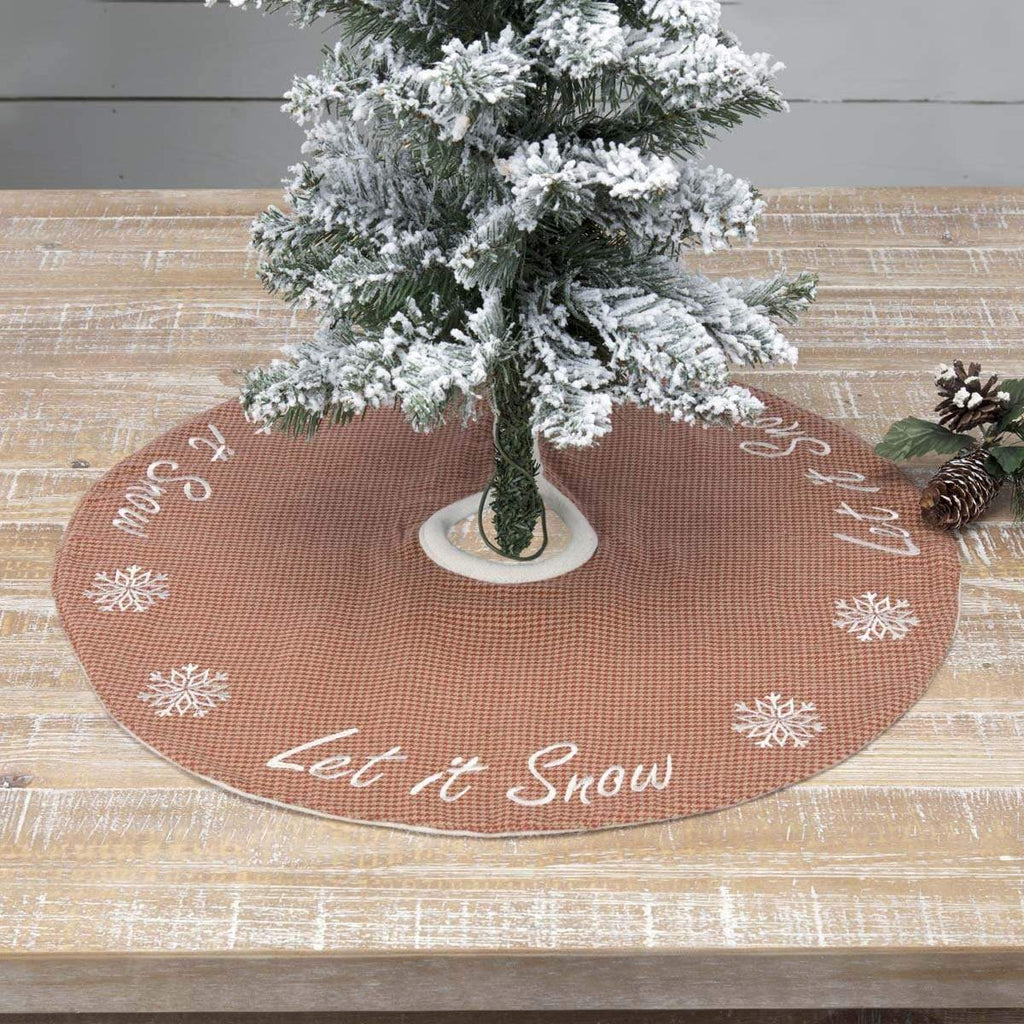 Seasons Crest Tree Skirt Let It Snow Mini Tree Skirt 21