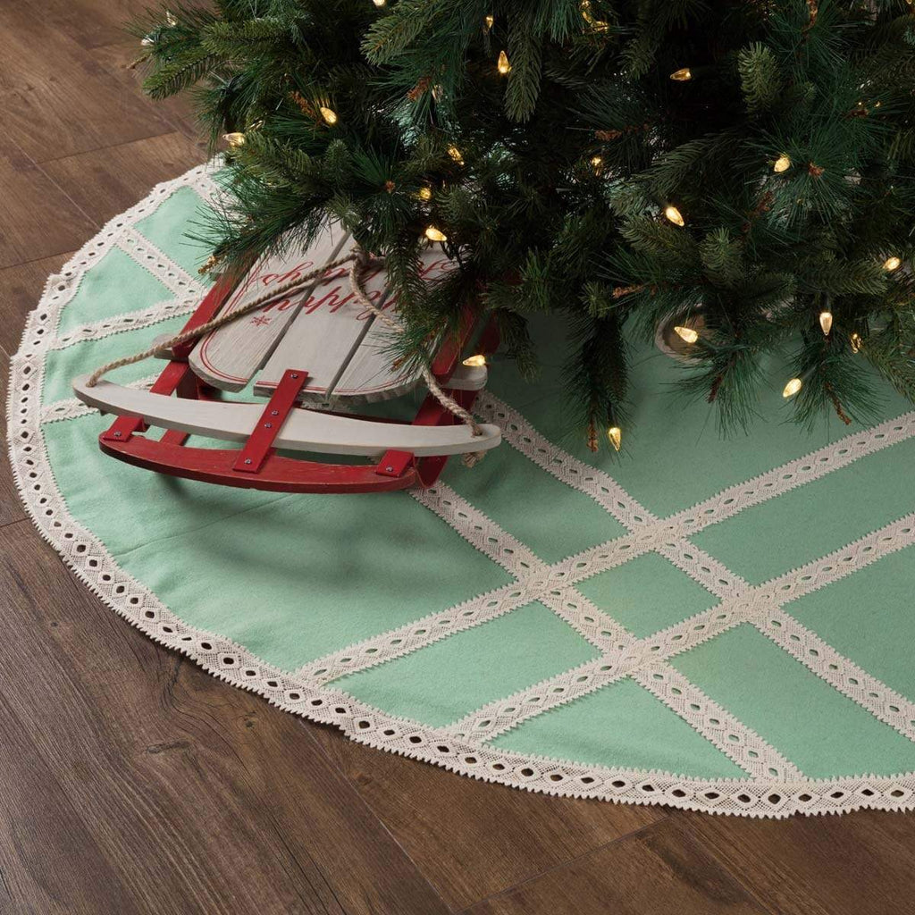 Seasons Crest Tree Skirt Margot Mint Tree Skirt 60