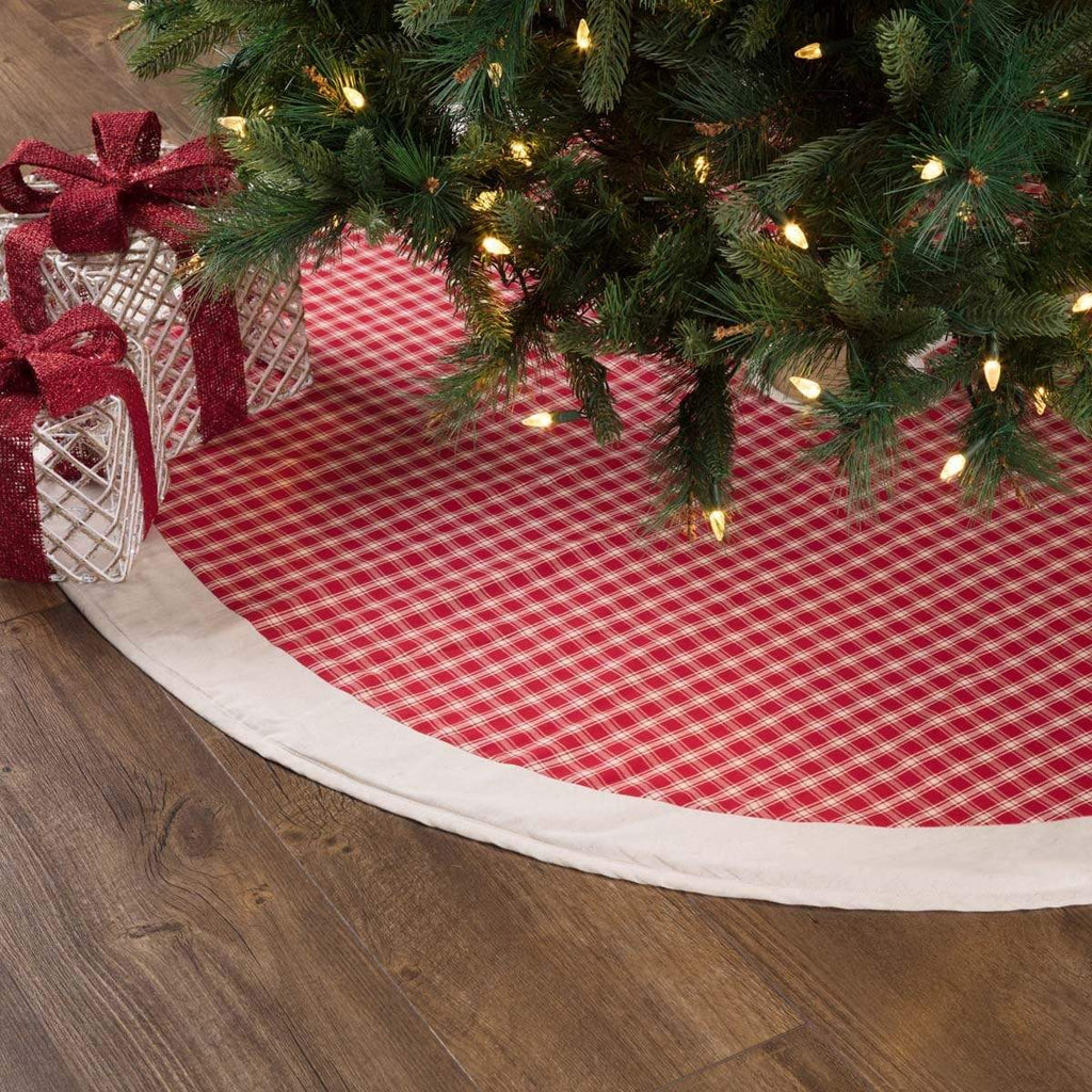 Seasons Crest Tree Skirt Red Plaid Tree Skirt 55