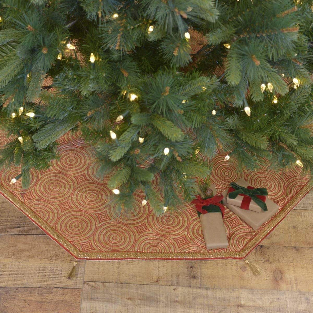 Seasons Crest Tree Skirt Soleil Tree Skirt 48