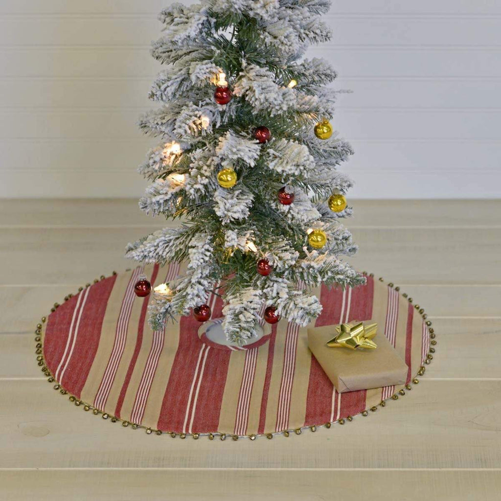 Seasons Crest Tree Skirt Vintage Stripe Mini Tree Skirt 21