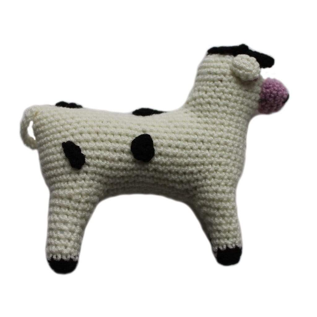 Silk Road Bazaar Baby Apparel And Booties Knit Rattle Cow - Silk Road Bazaar