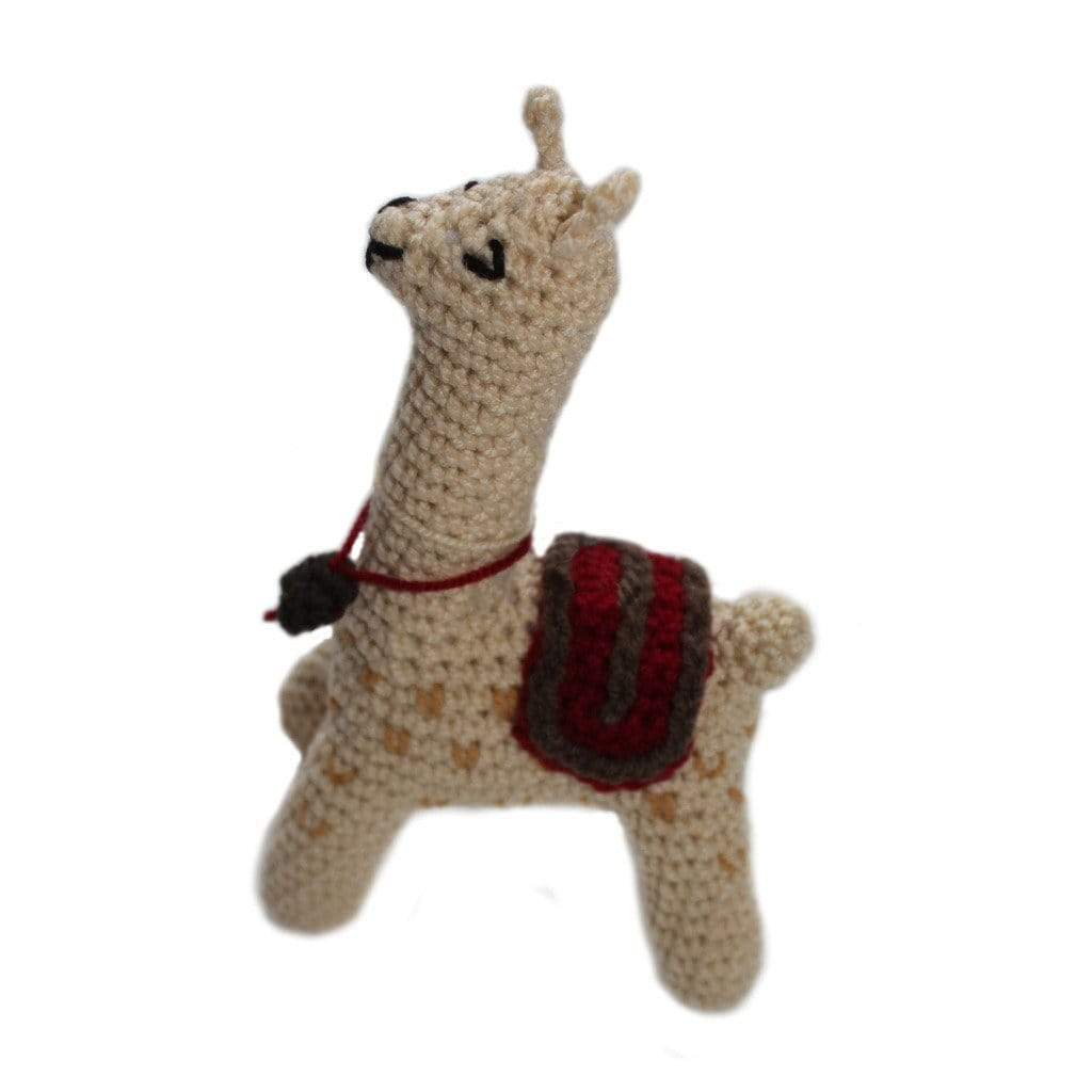 Silk Road Bazaar Baby Apparel And Booties Knit Rattle Llama - Silk Road Bazaar