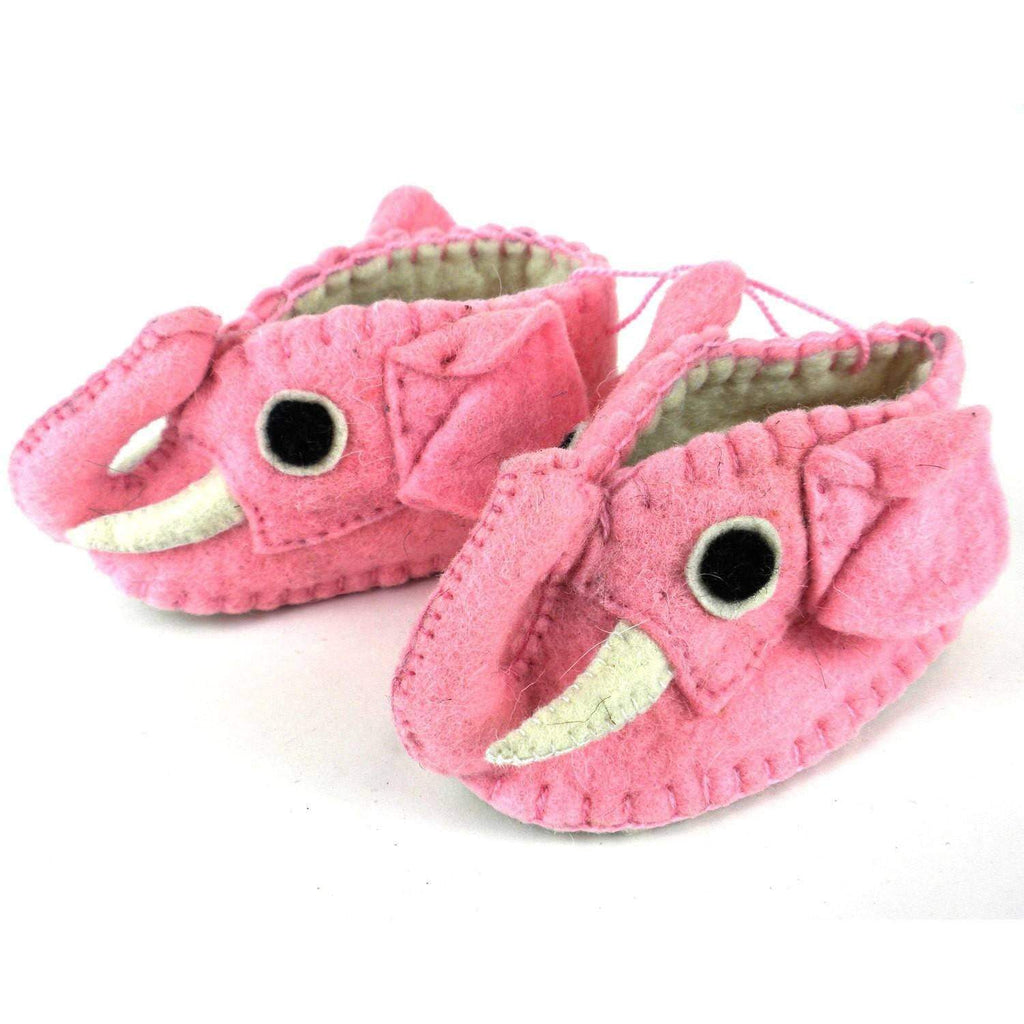 Silk Road Bazaar Baby Apparel And Booties Pink Elephant Zooties Baby Booties - Silk Road Bazaar