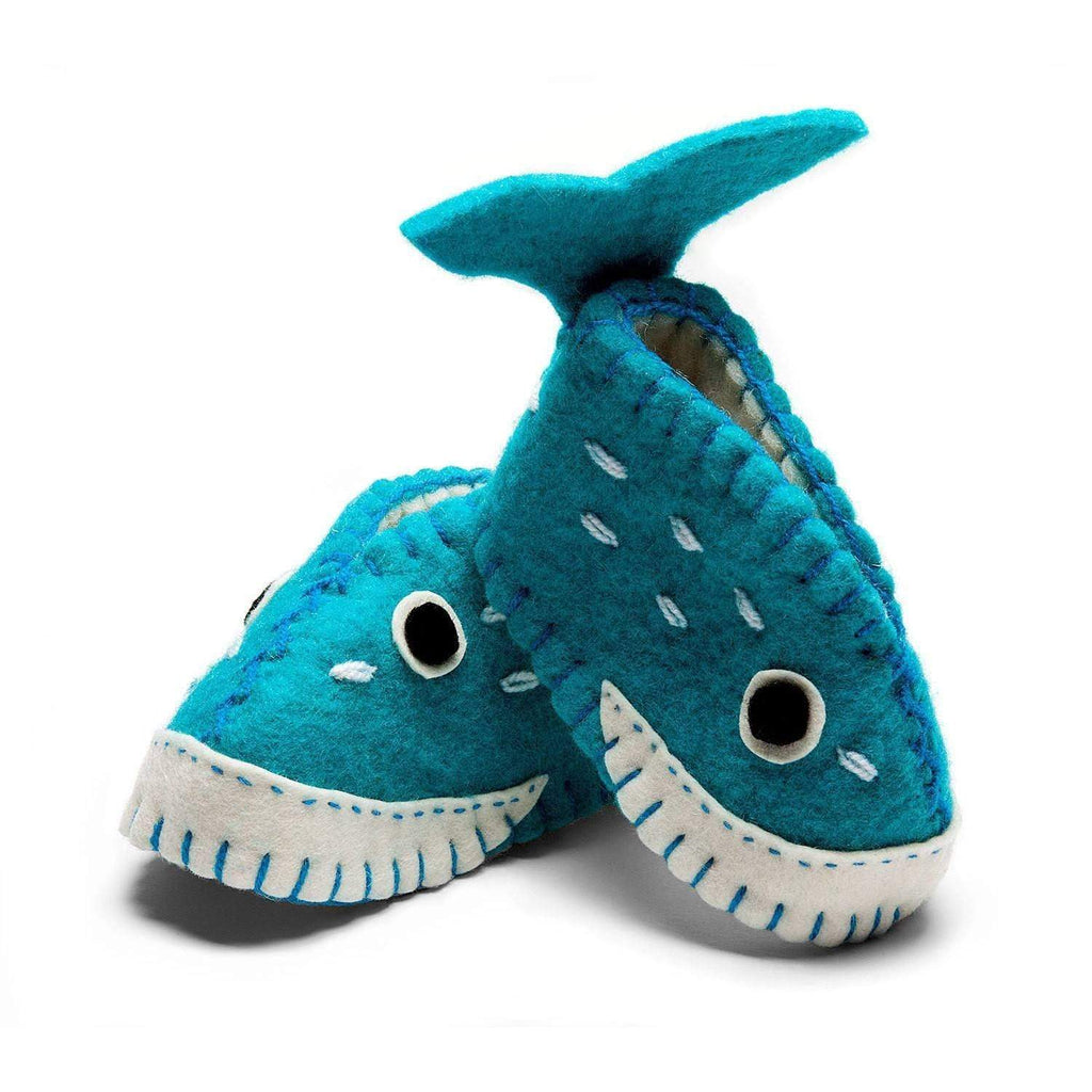 Silk Road Bazaar Baby Apparel And Booties Whale Zooties Baby Booties - Silk Road Bazaar
