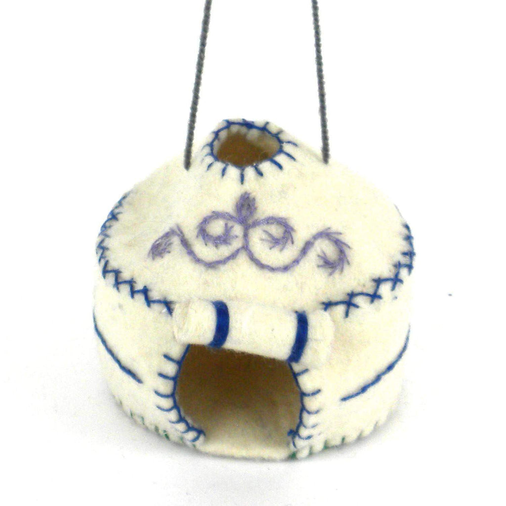 Silk Road Bazaar (O) Holiday Yurt Felt Holiday Ornament - Silk Road Bazaar (O)
