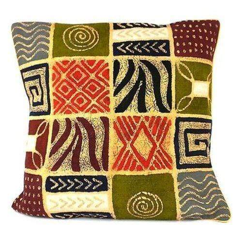 Tonga Textiles Tonga Textiles Handmade Colorful Patches Batik Cushion Cover - Tonga Textiles