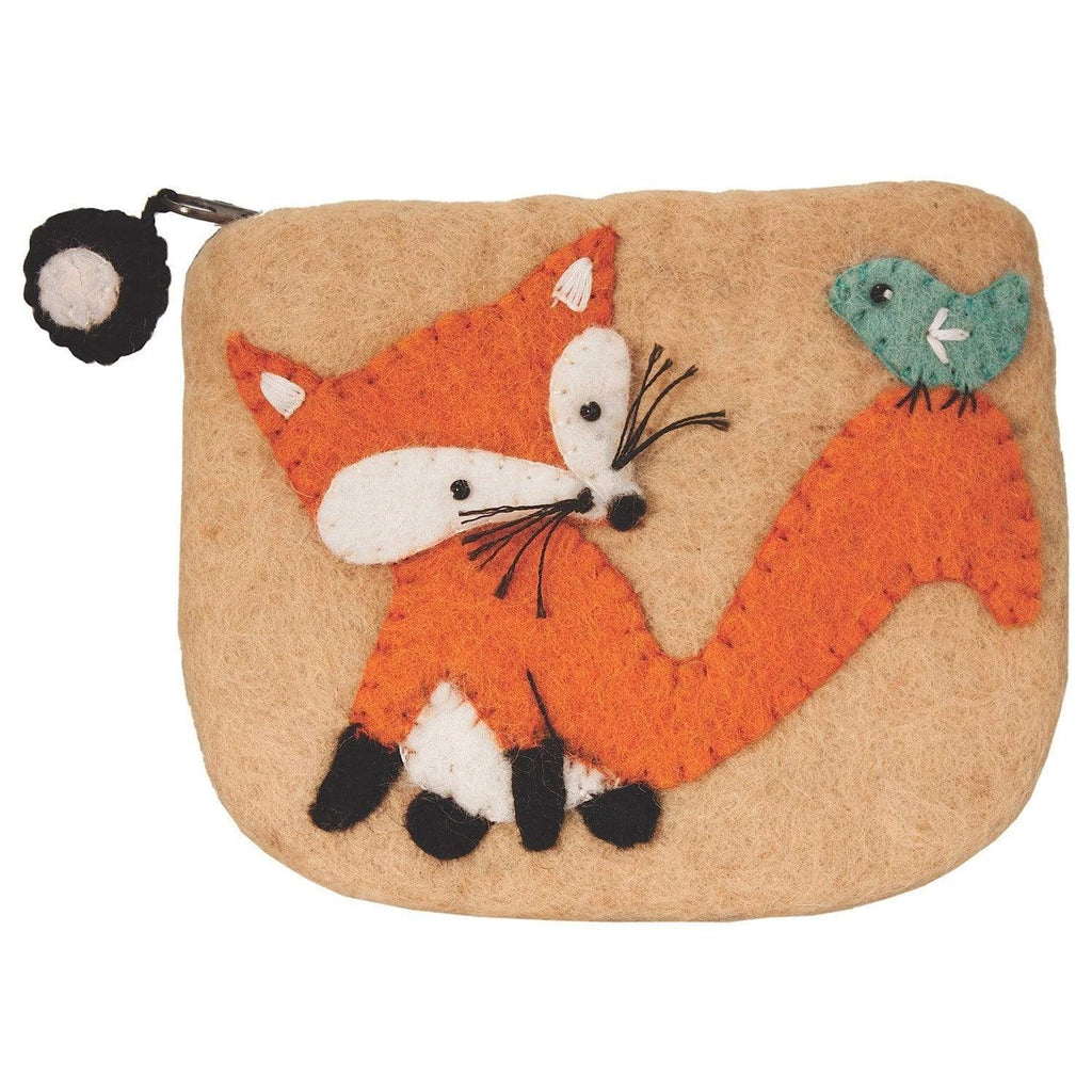 Wild Woolies Purses And Pouches Felt Coin Purse - Fox - Wild Woolies (P)