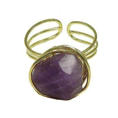 WorldFinds World Finds Agate Chunk Statement Ring in Plum - WorldFinds