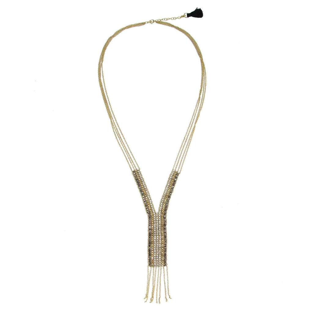 WorldFinds WorldFinds Fringed Y Necklace - WorldFinds